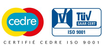 Certification CEDRE ISO 9001